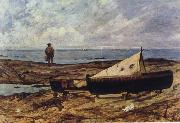 Giovanni Fattori On the Beach oil painting artist